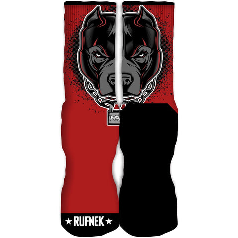 Rufnek Hardware UnbreakaBULL Bred 11 Low Socks
