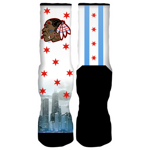 Rufnek Hardware Blackhawks 23 Chicago 10's Socks