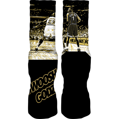 Rufnek Hardware Swish Godz Gold Foams Socks