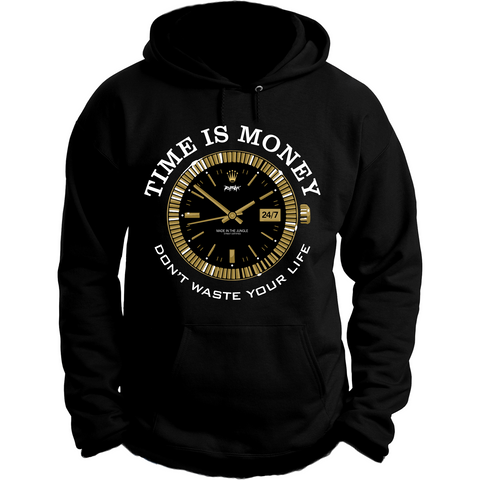 Rufnek Hardware Time is Money Gold Foams Hoodie