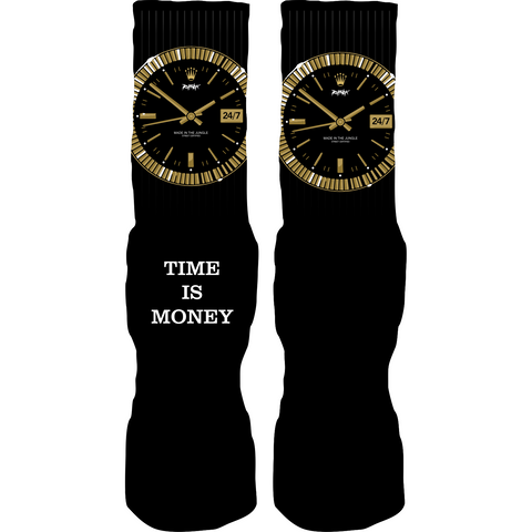 Rufnek Hardware Time is Money Gold Foams Socks
