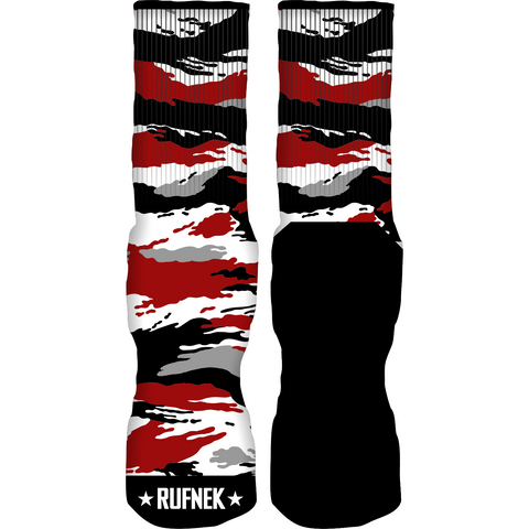 Rufnek Hardware Tiger Stripes Double Nickel 10's Socks