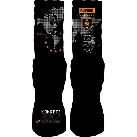 Rufnek Hardware Search and Destroy Chutney 13s Socks