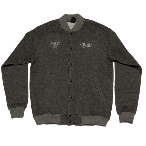Crooks and Castles NCL Black Speckle Baseball Jacket