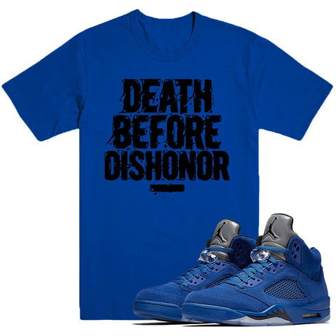Dapper Sam Dishonor Blue Suede 5s Tee