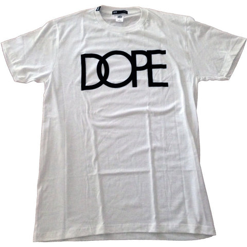 Dope Couture Logo Flocked White Tee