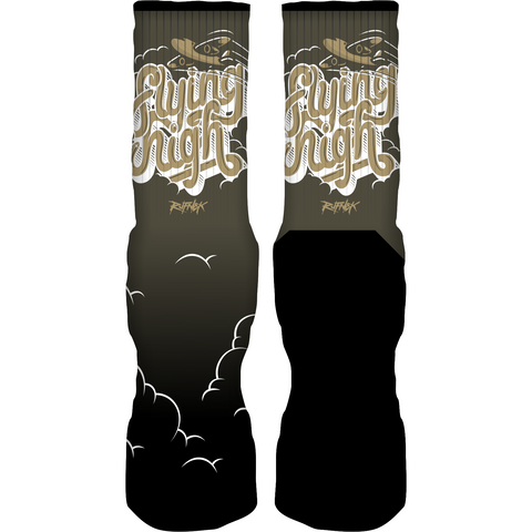 Rufnek Hardware Flying High Take Flight 5s Socks