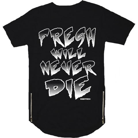 Bobby Fresh Never Die Scoop Zipper Tee
