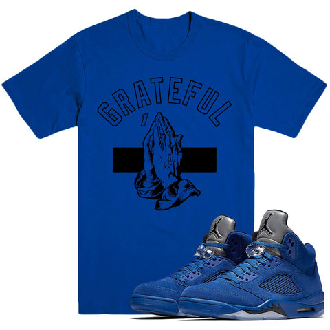 Dapper Sam Grateful Blue Suede 5s Tee