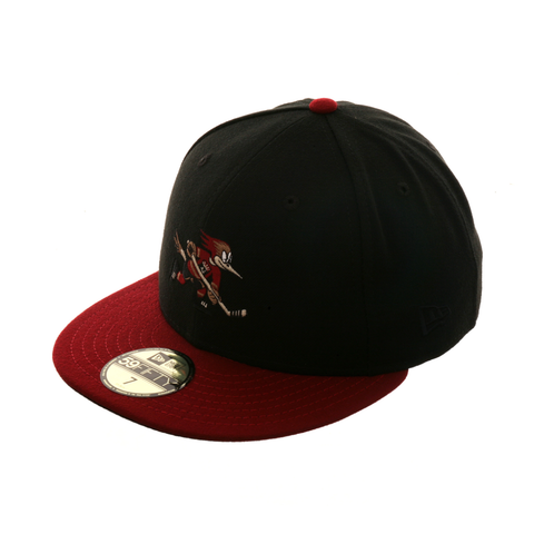 Exclusive New Era 59Fifty Tucson Roadrunners Hat - 2T Black, Cardinal