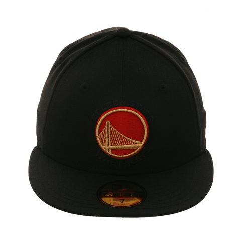 meet 4e9b4 03425 Exclusive New Era 59Fifty Golden State Warriors Alternate Hat - Black, Red,  Metallic Gold