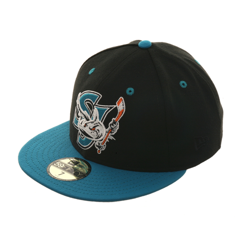 Exclusive New Era 59Fifty San Jose Barracuda Hat - 2T Black , Teal