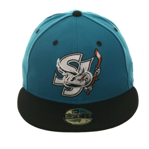 official photos 6ee8b 94713 Exclusive New Era 59Fifty San Jose Barracuda Hat - 2T Teal, Black