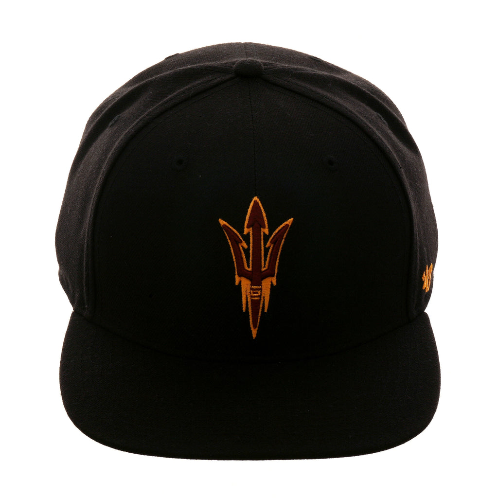 1b523bf8 ... closeout 47 brand arizona state sun devils no shot snapback hat black  exquisite streetwear shop 862f2 ...
