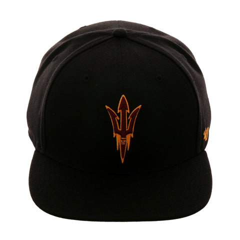 47 Brand Arizona State Sun Devils No Shot Snapback Hat - Black