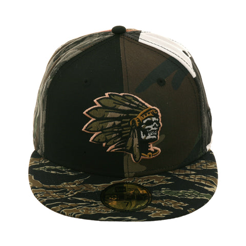Exclusive New Era 59Fifty Skull Chief Hat - Multi Camouflage