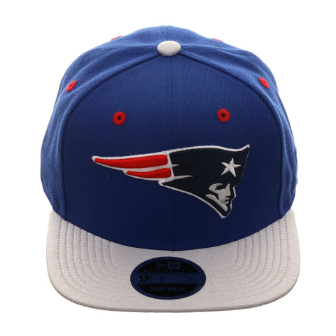 Exclusive New Era 9fifty New England Patriots Snapback Hat - 2T Royal, Metallic Silver