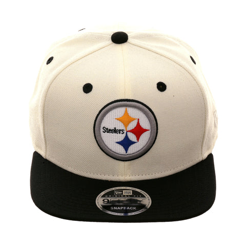 Exclusive New Era 9Fifty Pittsburgh Steelers Snapback Hat - 2T White, Black