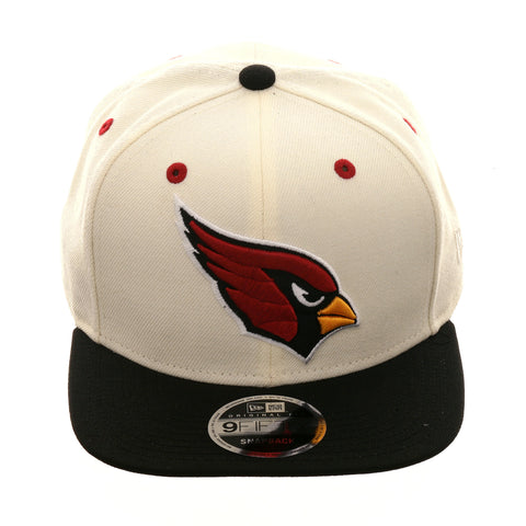Exclusive New Era 9fifty Arizona Cardinals Snapback Hat - 2T White, Black