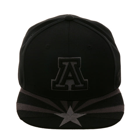 Zephyr Flag Arizona Snapback Hat - 2T Black, Graphite
