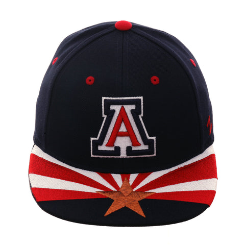 Zephyr Flag Arizona Fitted Hat - 2T Navy, Red