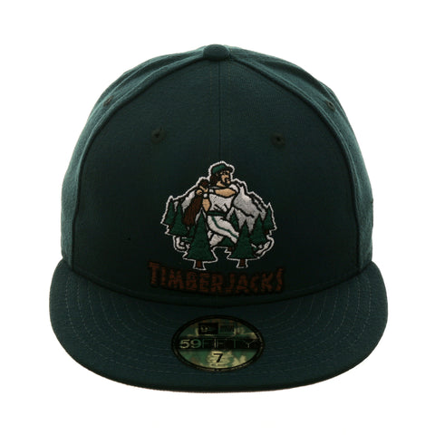 Exclusive New Era 59Fifty Southern Oregon Timberjacks Hat - Forest Green