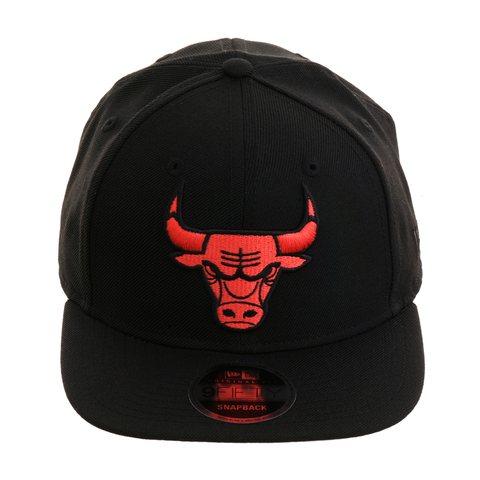 Exclusive New Era 9Fifty Chicago Bulls Snapback Hat - Black, Infrared