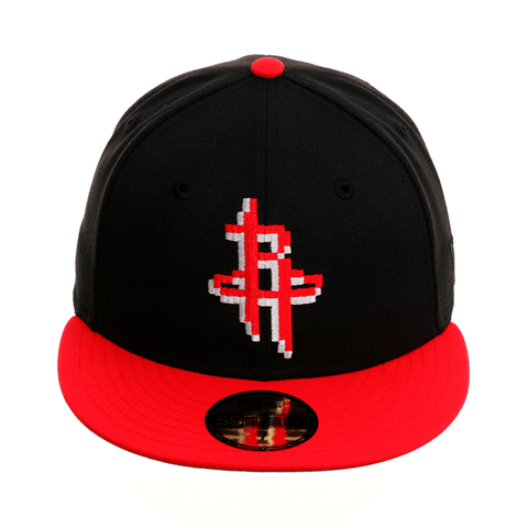 innovative design dd384 81435 Exclusive New Era 59Fifty Houston Rockets Pixel Hat - 2T Black, Red