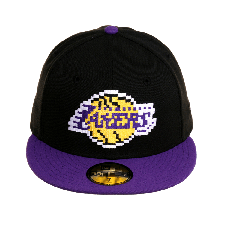detailed look 1262e f1c5c Exclusive New Era 59Fifty Los Angeles Lakers Pixel Hat - 2T Black, Pur –  Exquisite Streetwear Shop