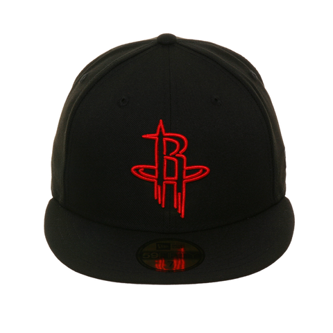 Exclusive New Era 59Fifty Houston Rockets Neon Hat - Black