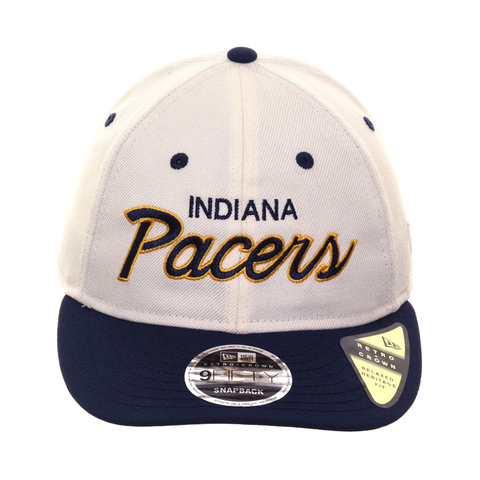 0d6d216488067c Exclusive New Era 9fifty Indiana Pacers Script Retro Crown Snapback Hat - 2T  White, Navy
