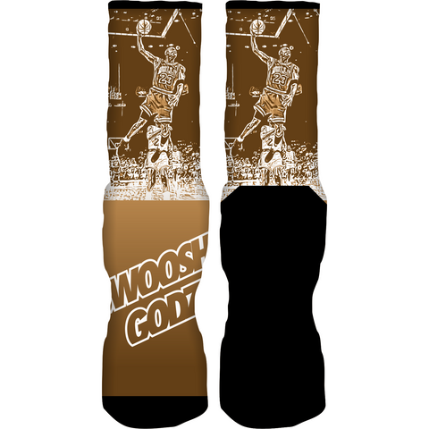 Rufnek Hardware Swoosh Godz Wheat 6's Socks