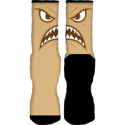 Rufnek Hardware Warface Wheat 6's Socks
