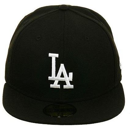 New Era 59Fifty Los Angeles Dodgers Hat - Black, White