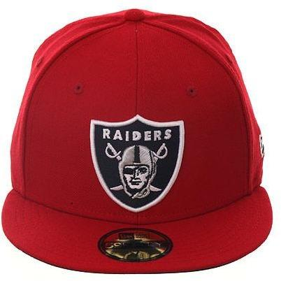 Exclusive New Era 59fifty Oakland Raiders Fitted Hat - Red, Black