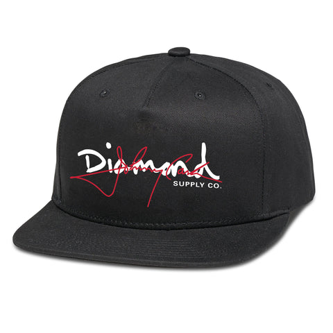 Diamond Supply Co X Johnny Cash Script Snapback