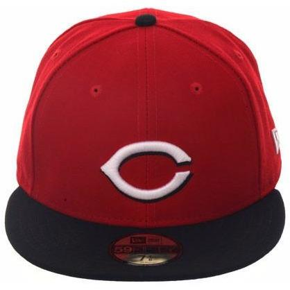 New Era Authentic Collection Cincinnati Reds Fitted On-Field Road Hat