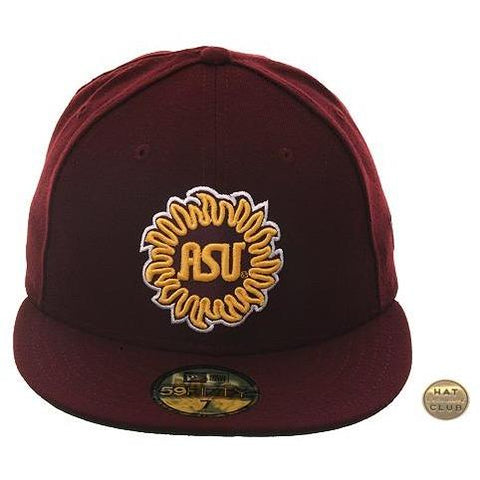 Exclusive New Era 59Fifty Arizona State Sun Devils Sun Hat - Maroon