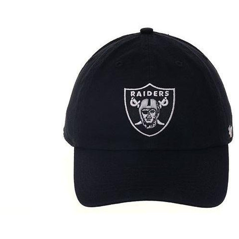 47 Brand Cleanup Oakland Raiders Dad Hat - Black