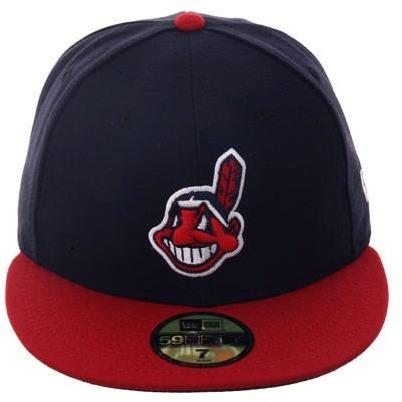 New Era Authentic Collection Cleveland Indians On-Field Home Fitted Hat