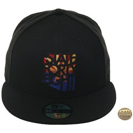 ab06057ffc400 Hat Club Exclusive New Era 59Fifty State Forty Eight Flag Logo Fitted Hat -  Black