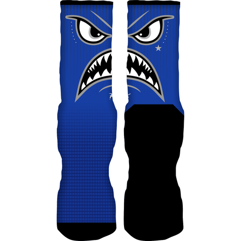 Rufnek Hardware Warface Blue Suede 5s Socks