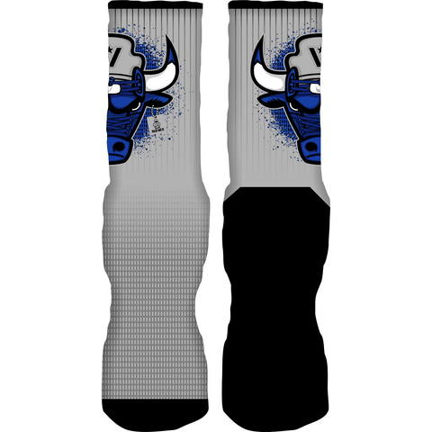 Rufnek Hardware War Bully Blue Suede 5s Socks