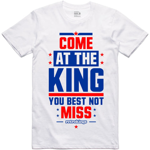 Retro Kings Clothing Come at the King True Blue 3's Tee