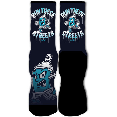 Rufnek Hardware Run These Streets Los Angeles 10's Socks