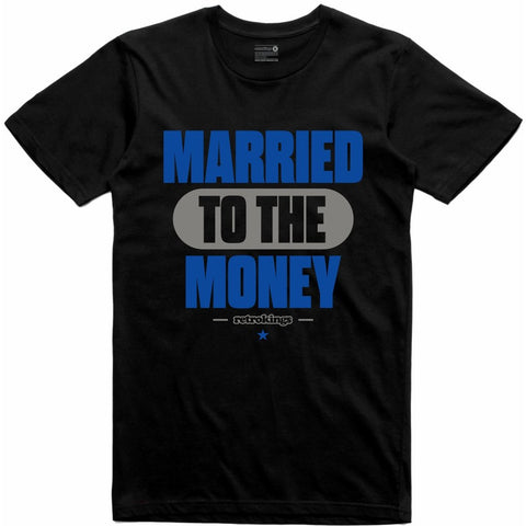 Retro Kings Clothing Married Blue Suede 5s Tee