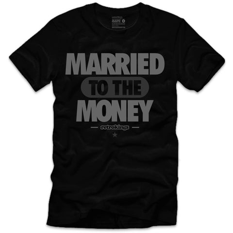 Retro Kings Clothing Married to the Money Wool 12's Tee