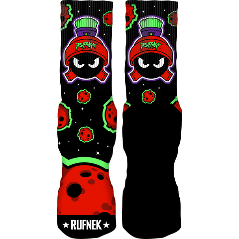 Rufnek Hardware Not of this World Marvin Martian 7's Socks