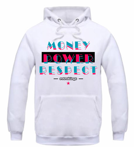 Retro Kings Clothing Money Power Respect South Beach 8s Hoodie