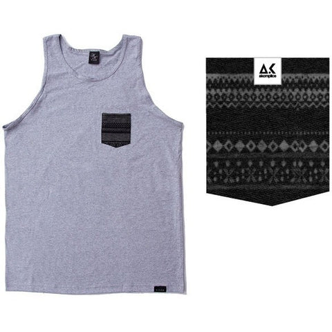 Akomplice Yamato Heather Grey Pocket Tank Top
